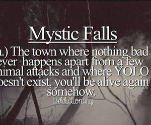 mystic falls, tvd, and yolo image
