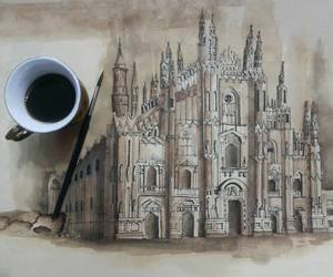 drawing, art, and castle image