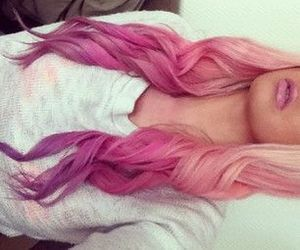 beauty, colored hair, and curly hair image