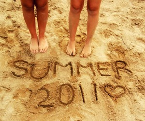 summer, 2011, and beach image