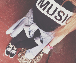 music, style, and vans image