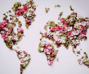 beautiful, map, and spring image