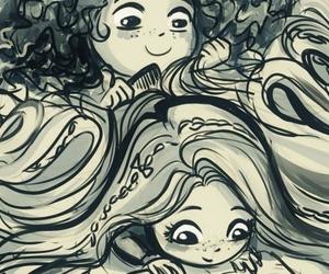 rapunzel, merida, and disney image