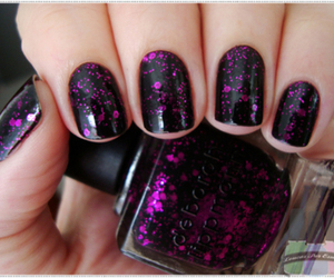 nails, nail polish, and black image