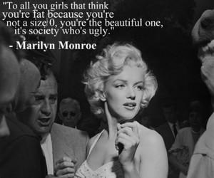 fat, Marilyn Monroe, and girl image