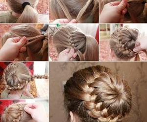 beautiful, bun, and haircut image