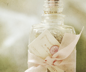 bottle, pink, and vintage image