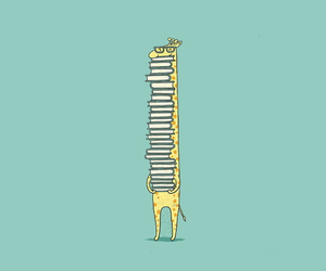 books, giraffe, and My World image