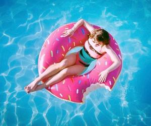 bikini, girl, and donut image