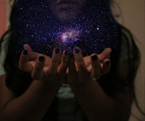black nails, scene, and space image