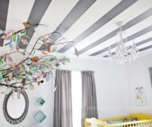 grey and white, interior design, and nursery image