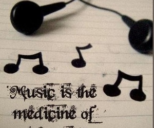 music, medicine, and quote image