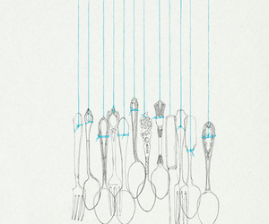 spoon, art, and illustration image