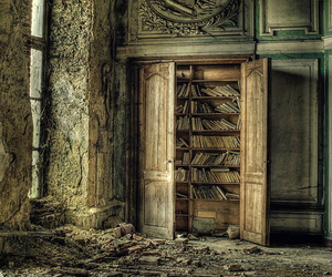 book, library, and urbex image