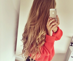 hair, iphone, and blonde image