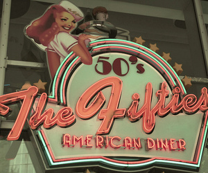 50s, retro, and diner image