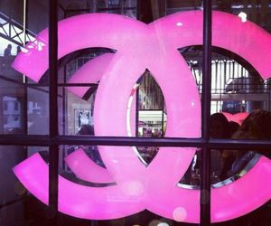 chanel, Logo, and pink image