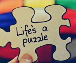 life, puzzle, and quote image