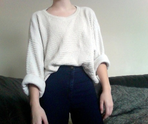 pale, outfit, and white image