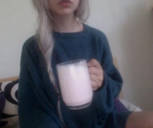 girl, pale, and milk image