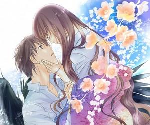 anime girl and boy, rdg, and red data girl image