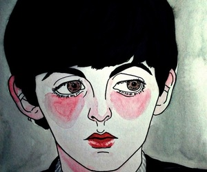 drawing, Paul McCartney, and the beatles image