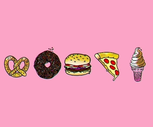 donut, drawing, and food image