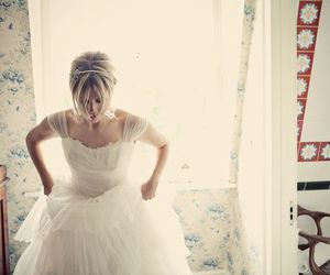 beautiful, blonde, and bride image