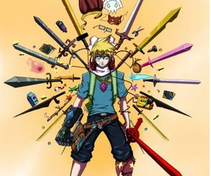 finn, adventure time, and swords image