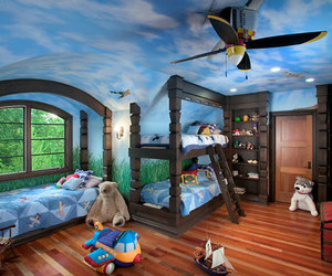 kids room, beautiful carpet, and white bedcover image