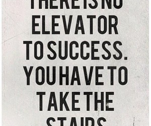 quotes, success, and stairs image