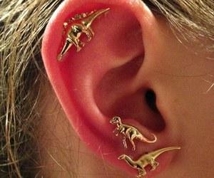 dinosaur, ear, and piercing image