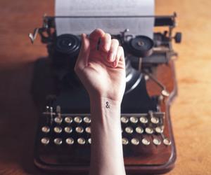 tattoo, hand, and vintage image