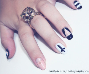 hipster, nail art, and cute image