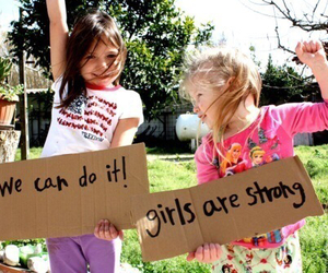 girl, strong, and girl power image