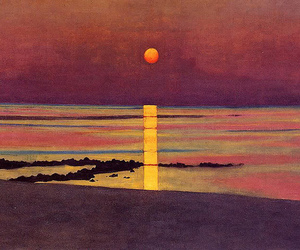 art, sunset, and felix vallotton image