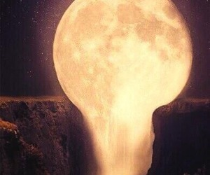 cool, moon, and nature image