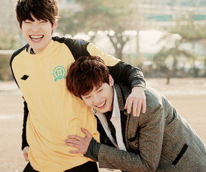 lee jong suk, kim woo bin, and cute image