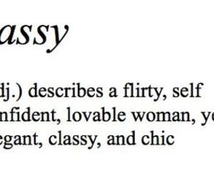 sassy, classy, and quote image
