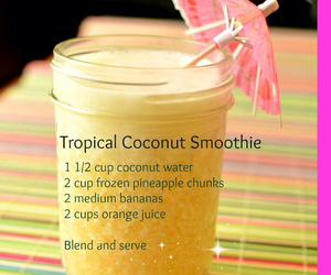 smoothie, coconut, and drink image
