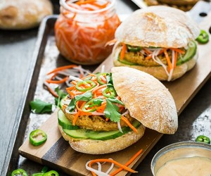 banh mi, burger, and sandwich image