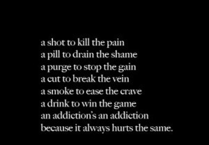 addiction, pain, and hurt image