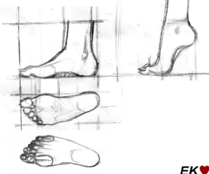 drawing, foot, and how to image