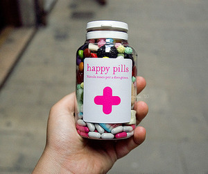 happy, pills, and happy pills image