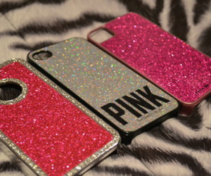 pink, glitter, and case image