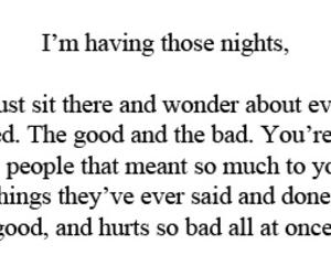 night, flashbacks, and bad image