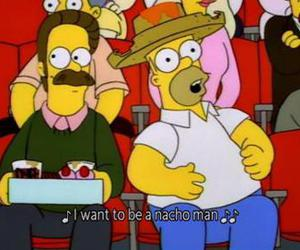 homer, nachos, and the simpsons image