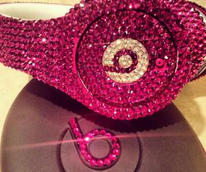 pink, beats, and headphones image