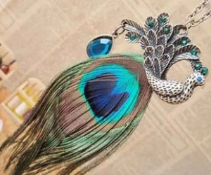 fashion jewelry, feather necklace, and retro necklace image
