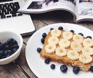food, fruit, and banana image